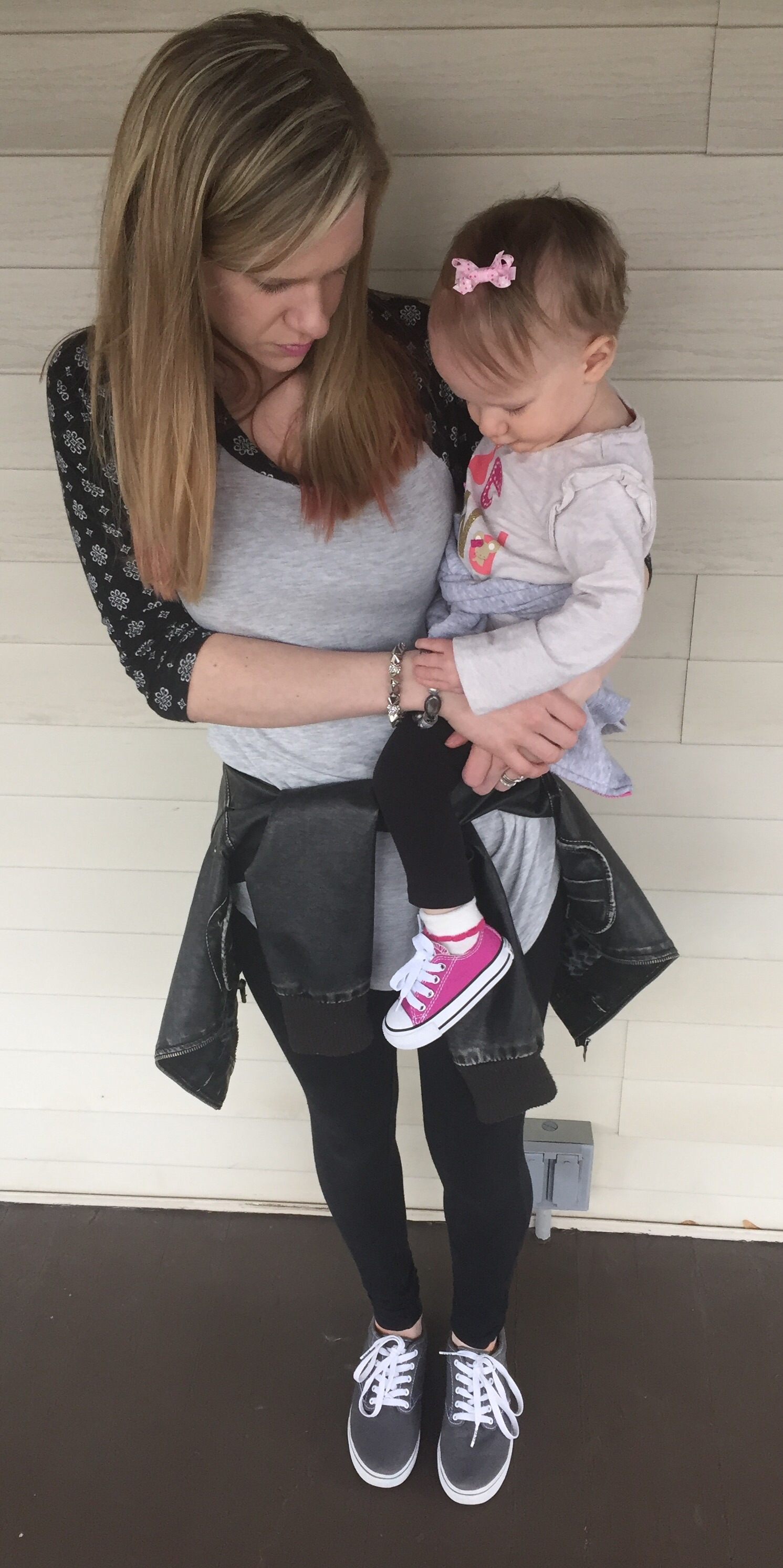 casual mommy and me outfit for springtime