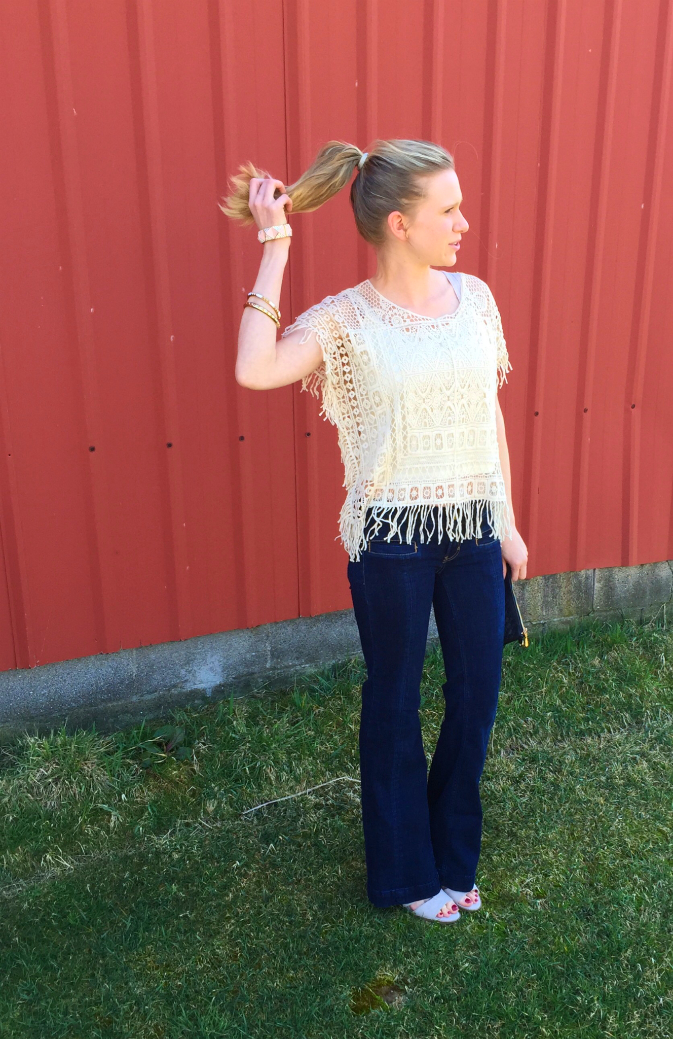 Bell bottoms & fringe shirt