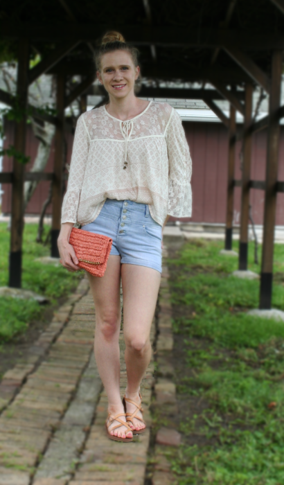 High Waisted Shorts & Pretty Tops