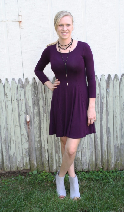 Fit & Flare Dress & Peep Toe Booties