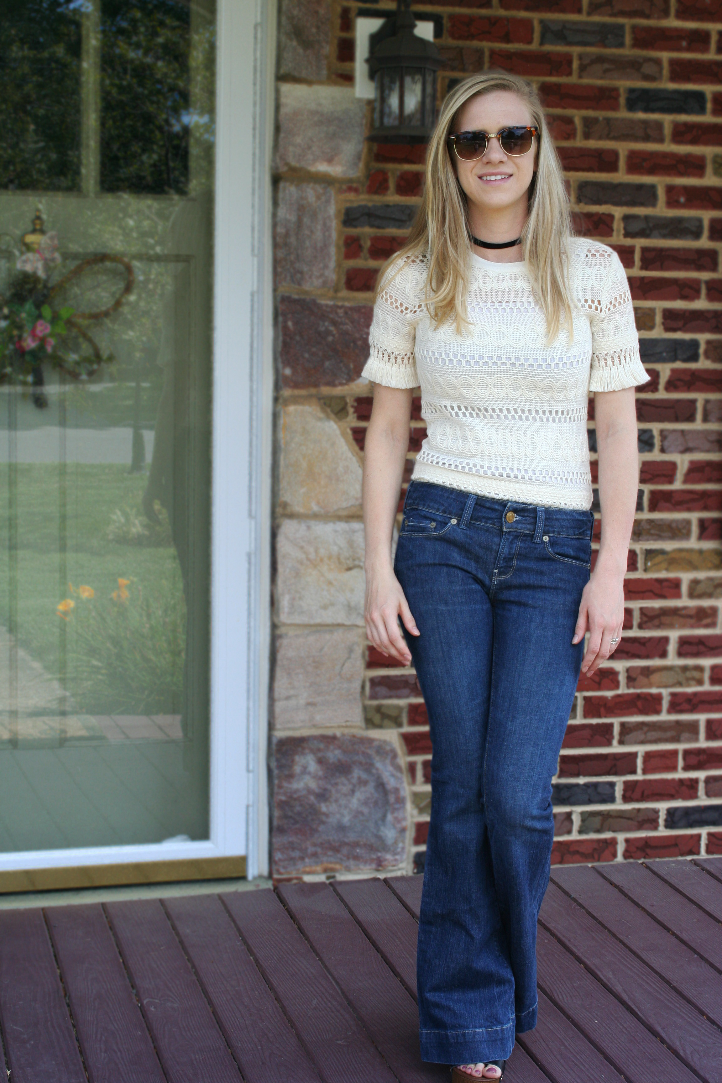 flare pants & crochet top 9