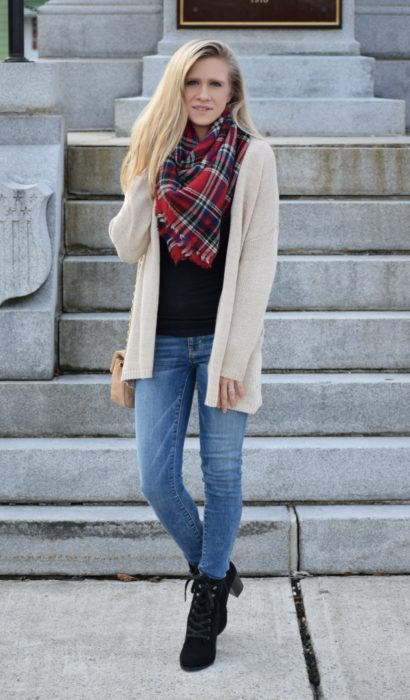 Cardi, Blanket Scarf, Booties…OH MY!