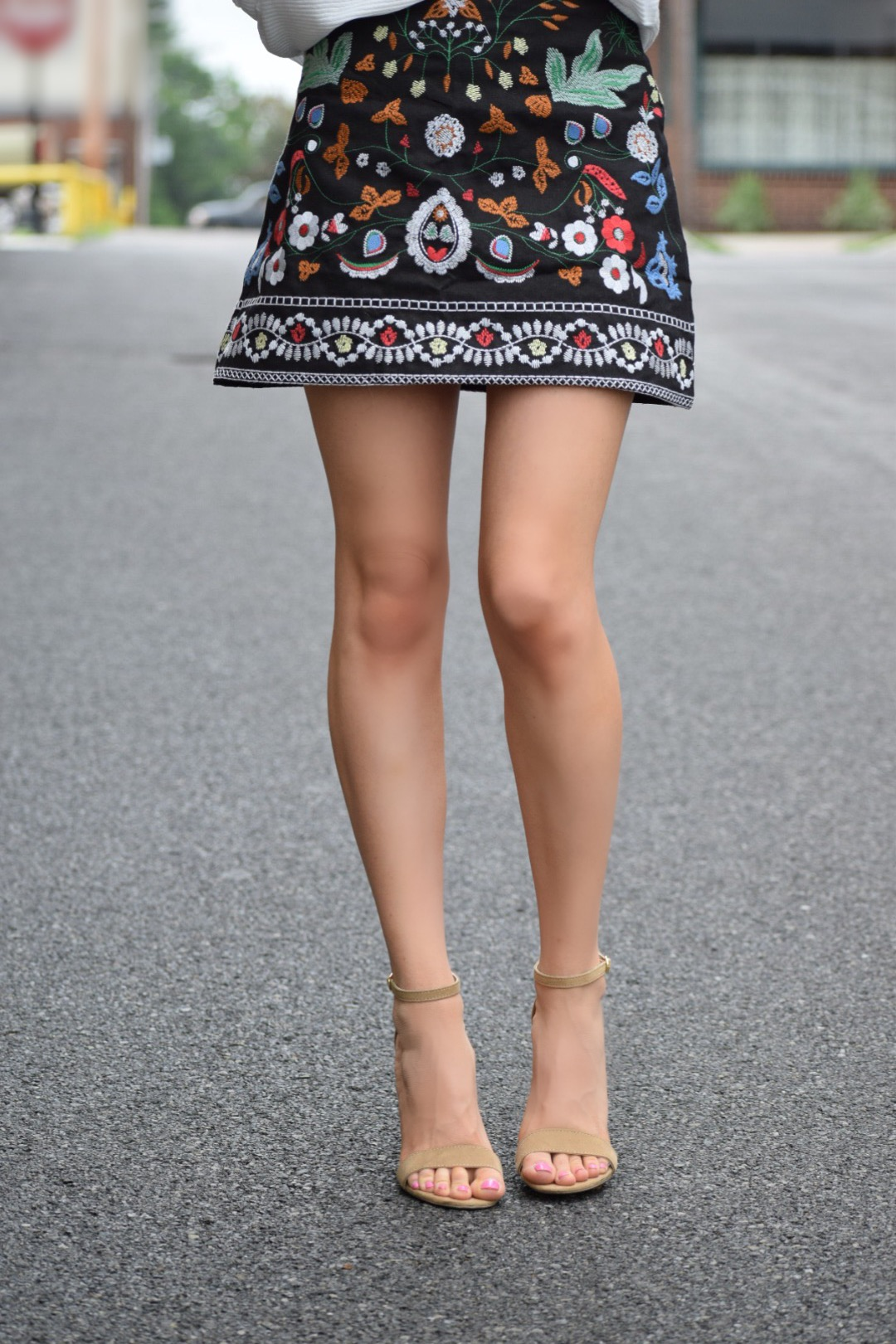 MAHVE embroidered mini skirt