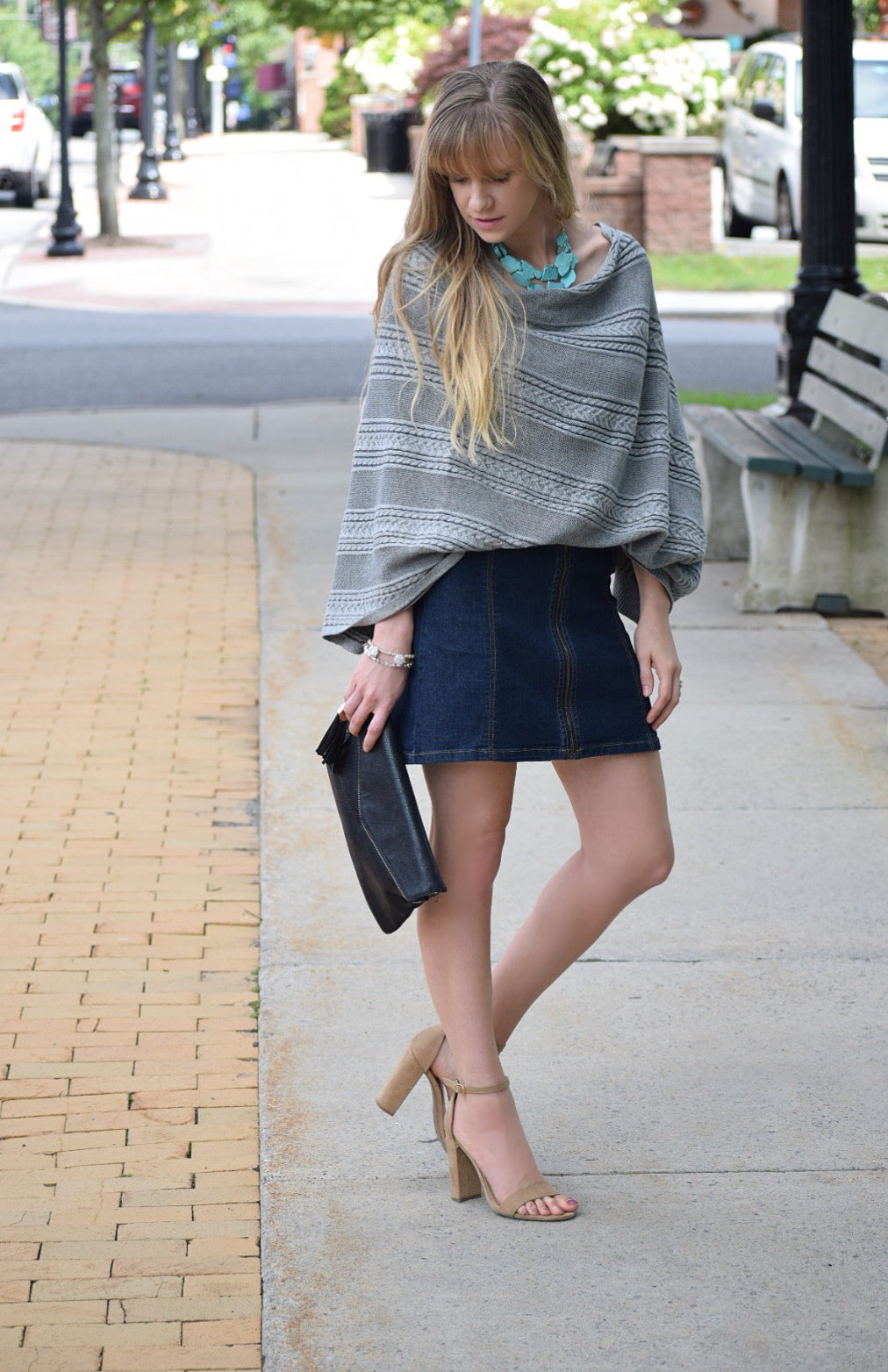 fall style poncho