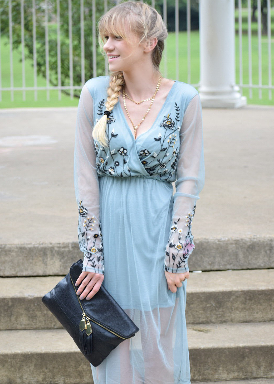 Target mesh and embroidered dress